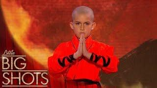 9 yr-old Shaolin Kung Fu Warrior stuns the audience | Little Big Shots
